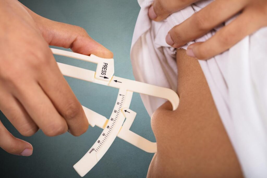 This is an image of calipers measuring body fat to measure weight loss results.